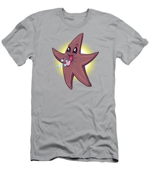 Chocolate Starfish Men's T-Shirt (Athletic Fit)