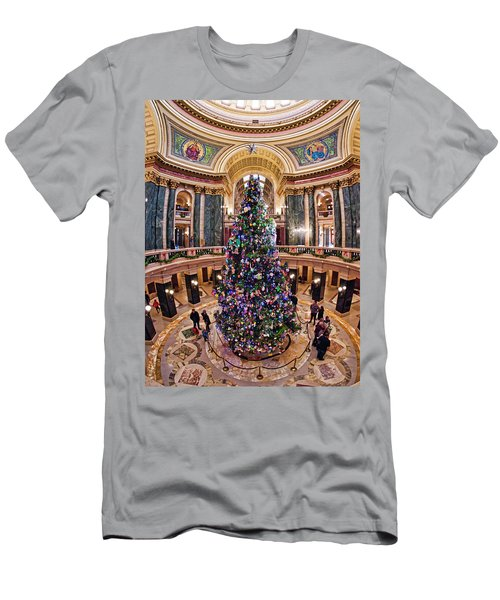 Christmas Tree -capitol - Madison - Wisconsin 2 Men's T-Shirt (Athletic Fit)