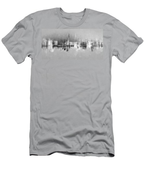 City In Black Men's T-Shirt (Athletic Fit)