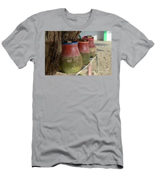 Clay Jugs Filled With Water To Drink Or Wash For Hikers And Visitors In A Village In Sudan. Men's T-Shirt (Athletic Fit)