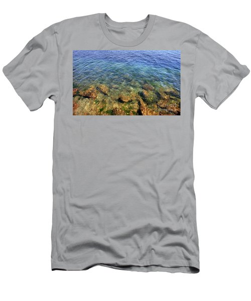 Clear Water At Morro Bay Men's T-Shirt (Athletic Fit)