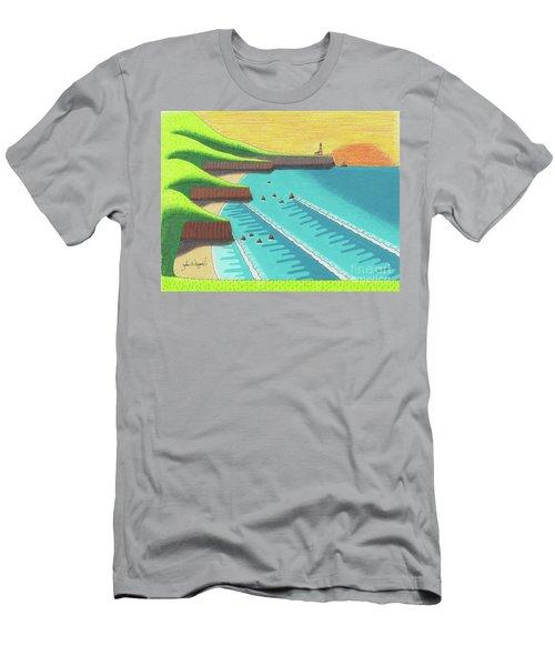 Cliffside Sunset  Men's T-Shirt (Athletic Fit)