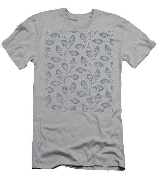 Climbing Leaves Repeat Pattern Men's T-Shirt (Athletic Fit)