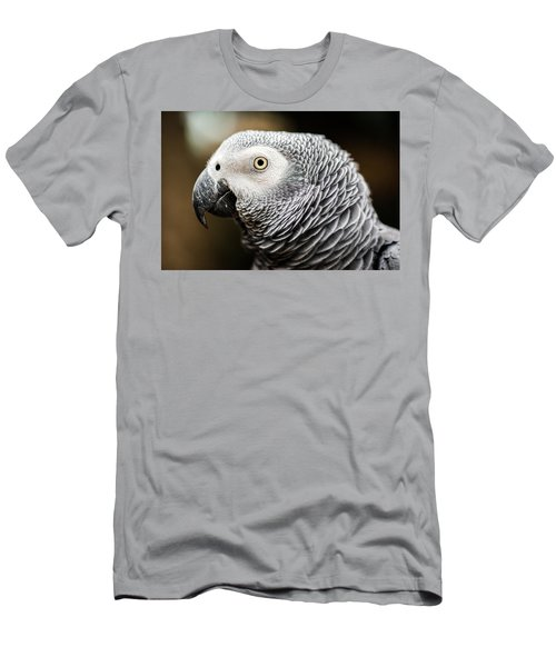 Close Up Of An African Grey Parrot Men's T-Shirt (Athletic Fit)