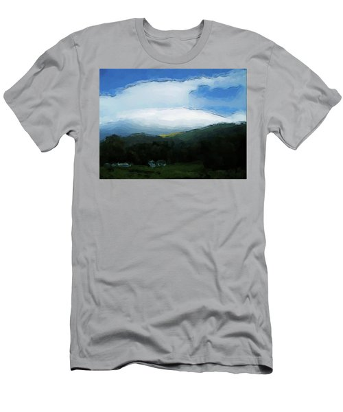 Cloudy View Painting Men's T-Shirt (Athletic Fit)