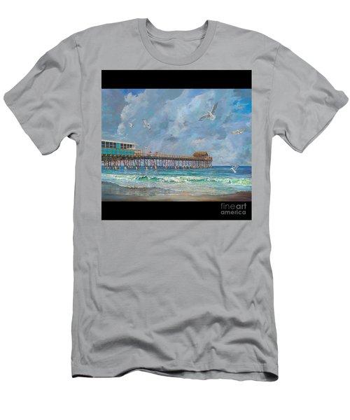 Cocoa Beach Pier Men's T-Shirt (Athletic Fit)