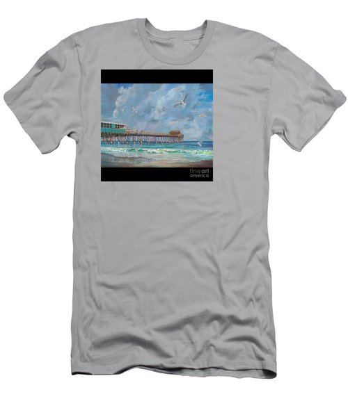 Cocoa Beach Pier Men's T-Shirt (Athletic Fit)