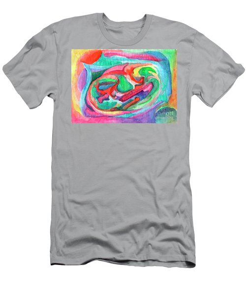 Colorful Abstraction Men's T-Shirt (Athletic Fit)