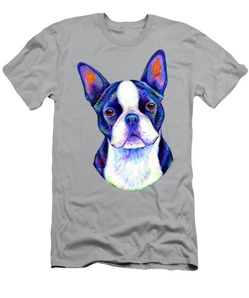 Colorful Boston Terrier Dog Men's T-Shirt (Athletic Fit)