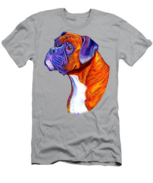 Colorful Brindle Boxer Dog Men's T-Shirt (Athletic Fit)