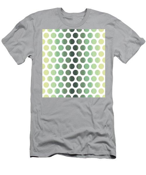 Colorful Dots Pattern - Polka Dots - Pattern Design 1 - Slate, Blue, Teal, Cream Men's T-Shirt (Athletic Fit)