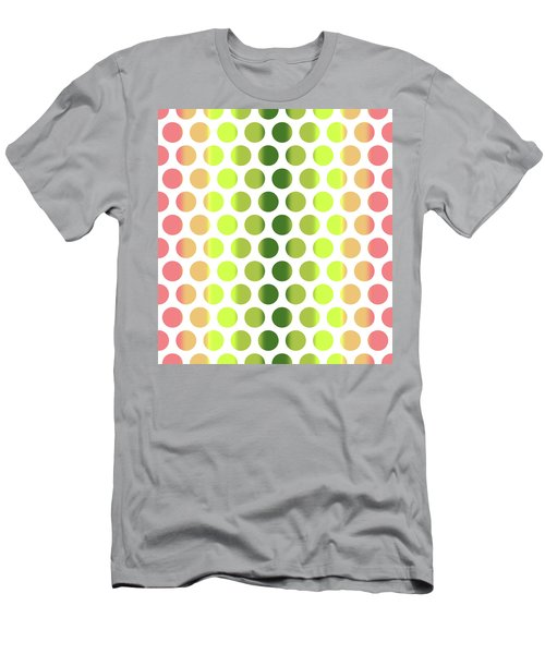 Colorful Dots Pattern - Polka Dots - Pattern Design 2 - Pink, Yellow, Green, Peach Men's T-Shirt (Athletic Fit)
