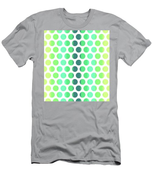Colorful Dots Pattern - Polka Dots - Pattern Design 3 - Turquoise, Teal, Blue, Green, Aqua Men's T-Shirt (Athletic Fit)