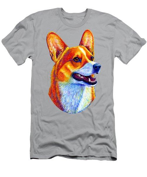 Colorful Pembroke Welsh Corgi Dog Men's T-Shirt (Athletic Fit)