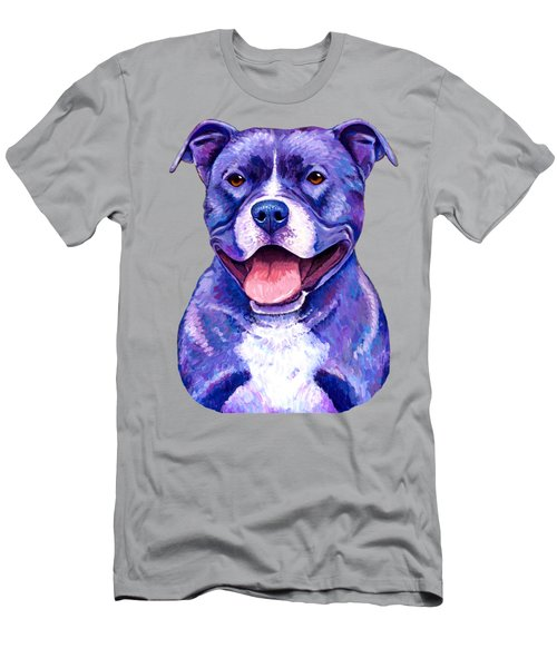 Colorful Pitbull Terrier Dog Men's T-Shirt (Athletic Fit)