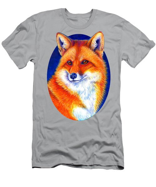 Colorful Red Fox Men's T-Shirt (Athletic Fit)
