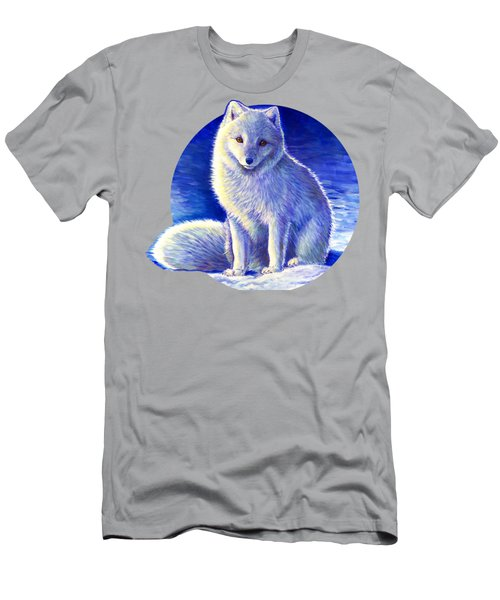 Colorful Winter Arctic Fox Men's T-Shirt (Athletic Fit)
