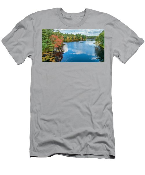Men's T-Shirt (Athletic Fit) featuring the photograph Colors Of Cady Pond by Michael Hughes