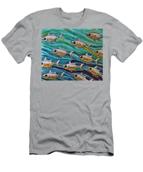 Men's T-Shirt (Athletic Fit) featuring the painting Coloured Water Fish by Joan Stratton