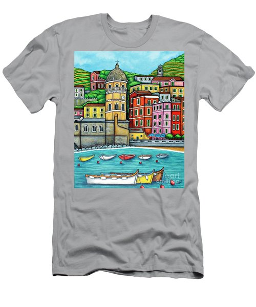 Colours Of Vernazza Men's T-Shirt (Athletic Fit)