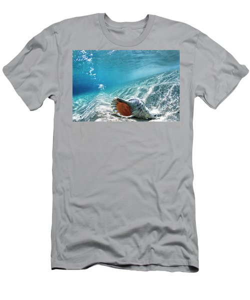 Conch Shell Bubbles Men's T-Shirt (Athletic Fit)