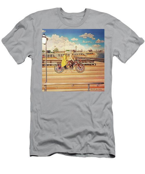 Coney Island Boardwalk Pillow Mural #5 Men's T-Shirt (Athletic Fit)