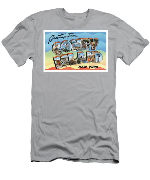 Coney Island Greetings - Version 2 Men's T-Shirt (Athletic Fit)