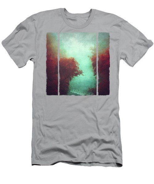 Copper Trees And River  In Mist Men's T-Shirt (Athletic Fit)