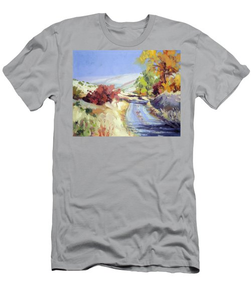Men's T-Shirt (Athletic Fit) featuring the painting Country Blue Sky by Steve Henderson