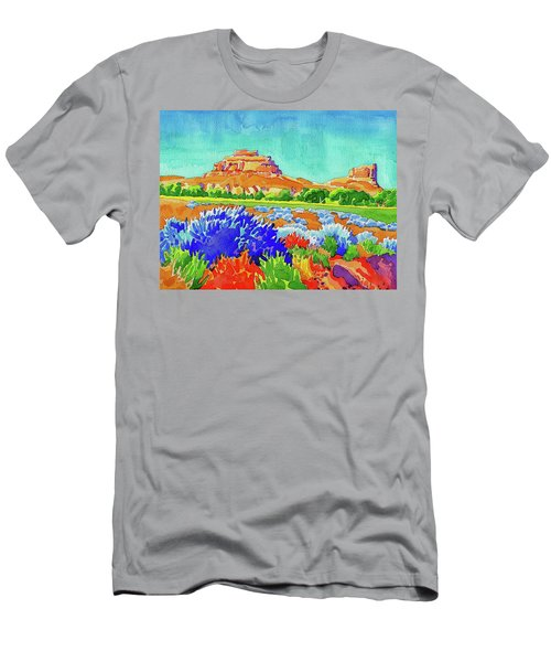 Men's T-Shirt (Athletic Fit) featuring the painting Courthouse And Jail Watercolor by Dan Miller