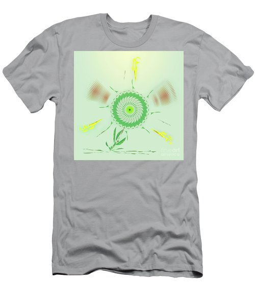 Crazy Spinning Flower Men's T-Shirt (Athletic Fit)