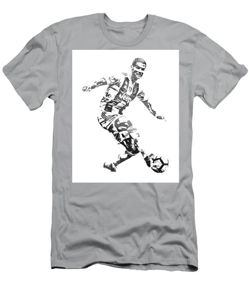 Cristiano Ronaldo Juventus Water Color Pixel Art 3 Men's T-Shirt (Athletic Fit)