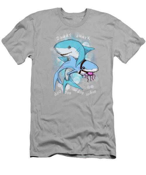 Daddy Shark Men's T-Shirt (Athletic Fit)