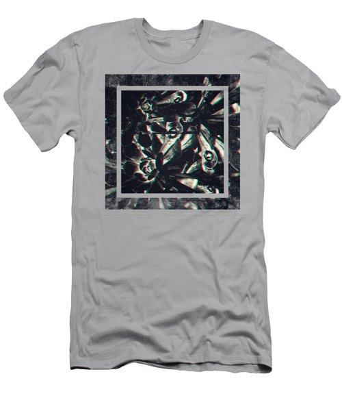 Dark Anaglyphic 3d Succulent Men's T-Shirt (Athletic Fit)