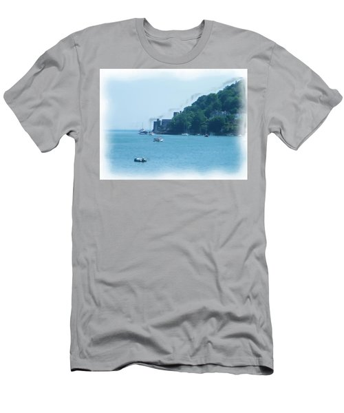 Dartmouth Castle Painting Men's T-Shirt (Athletic Fit)
