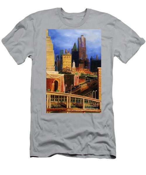 Dawn At City Hall Men's T-Shirt (Athletic Fit)
