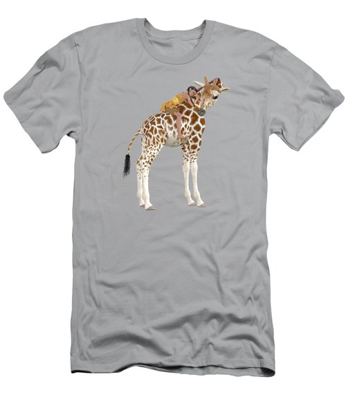 Daydreaming Of Giraffes Png Men's T-Shirt (Athletic Fit)