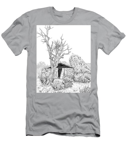 Decay Of Calamity The Half Life Of A Dream Black And White  Men's T-Shirt (Athletic Fit)