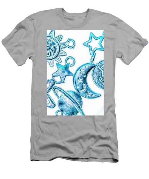 Deep Blue Space Men's T-Shirt (Athletic Fit)