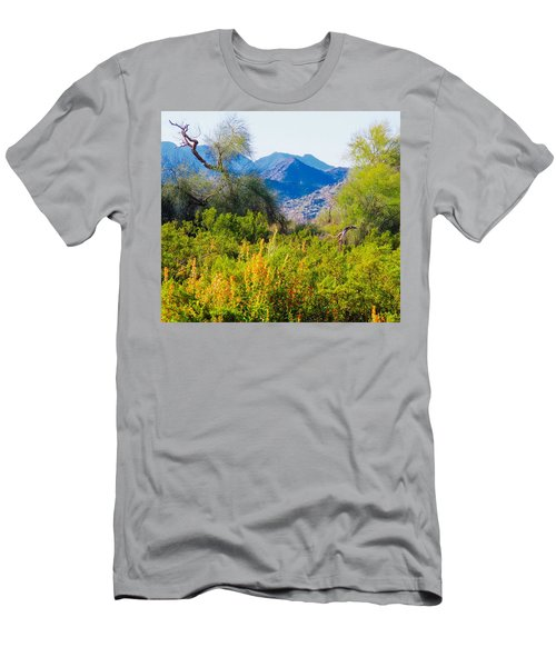 Deep Desert Valley In A Sonoran Desert Spring Men's T-Shirt (Athletic Fit)