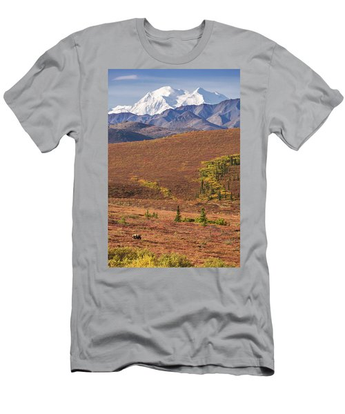 Men's T-Shirt (Athletic Fit) featuring the photograph Denali Grizzly by Tim Newton