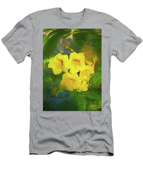 Men's T-Shirt (Athletic Fit) featuring the mixed media Desert Gold 8  by Lynda Lehmann