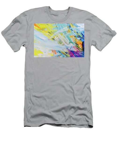 Detail Of Brush Strokes Of Random Colors To Use As Background An Men's T-Shirt (Athletic Fit)