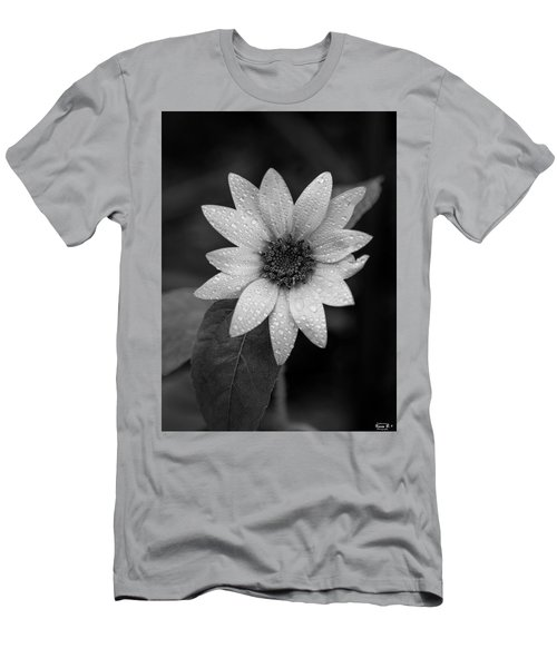 Dewdrops On A Sunflower Men's T-Shirt (Athletic Fit)