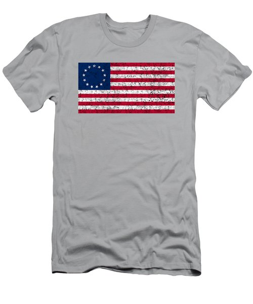 Distressed Betsy Ross Flag Men's T-Shirt (Athletic Fit)