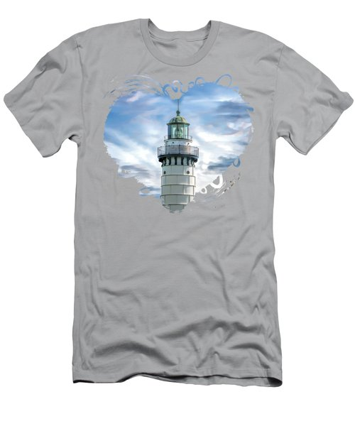 Door County Cana Island Beacon Men's T-Shirt (Athletic Fit)
