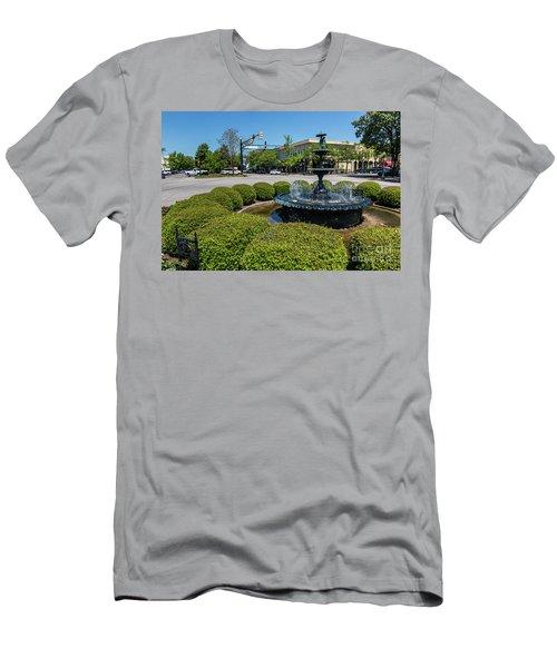 Downtown Aiken Sc Fountain Men's T-Shirt (Athletic Fit)