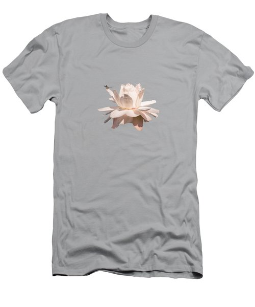 Dragonfly On Giant Victoria Cruziana Men's T-Shirt (Athletic Fit)