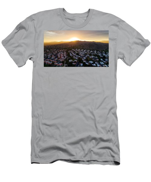 Dramatic South Mountain Sunset Men's T-Shirt (Athletic Fit)