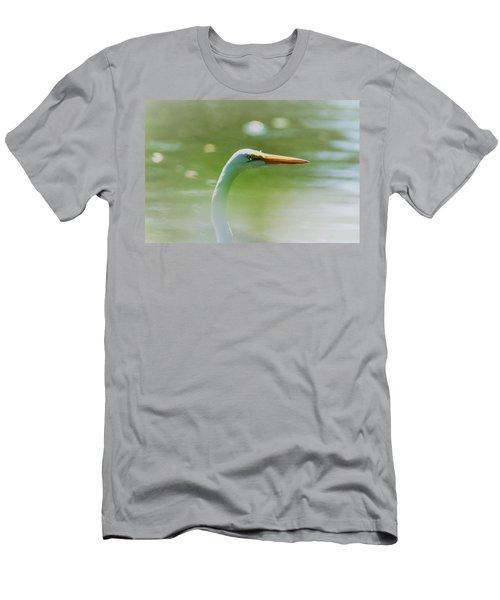 Dreamy Great White Egret Men's T-Shirt (Athletic Fit)